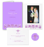 Purple Orchid Wedding Stationery