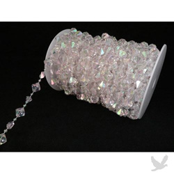 Crystal beads on a roll.