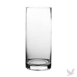 Clear glass cylinder vase.