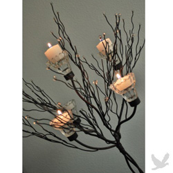 Metal tree with candle votives