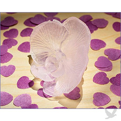 Lavender colored orchid shaped soap wedding favors.