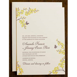 Hello Lucky Orchid Wedding Invitation Shangri La Grass and Stone