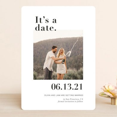 Its a date save the dates from Minted with photo.
