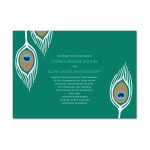 Enchanted Peacock Plume Wedding Invitations