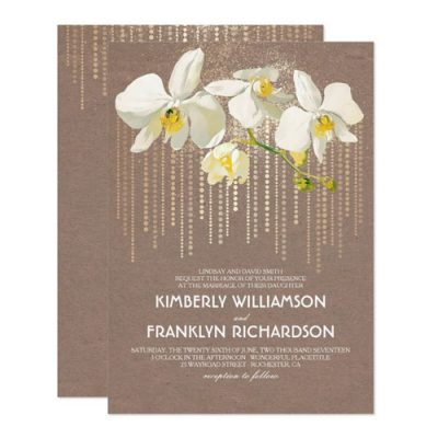 Vintage Wedding Orchid Invitations Collection