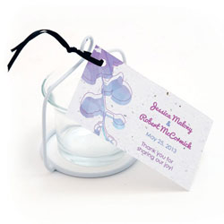 Plantable Orchid Favor Tags