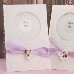 Personalized Wild Orchid Seed Favor Cards