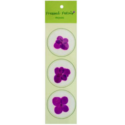 Purple Orchid Pressed Flower Sticker