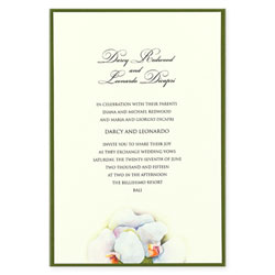 Orchid Trio Wedding Invitation