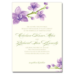 Elegant Orchids Wedding Invitation