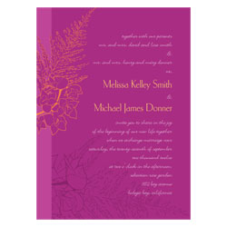 Purple Tropical Orchids Wedding Invitations