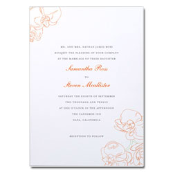 Beloved Orchid Wedding Invitation