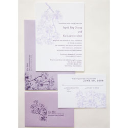 Letterpress Orchid Invitation