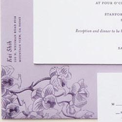 Classic Letterpress Invitation Details