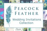 <b>Peacock Feather Wedding Invitations Collection</b>
