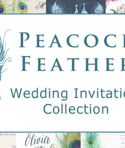 Peacock Feather Wedding Invitations Collection
