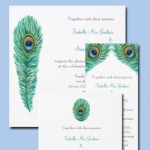 Peacock Feather Wedding Invitations