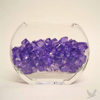 Plastic Gem Stones - Purple