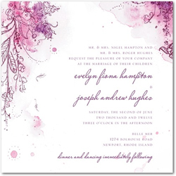 Purple Wedding Invitations Collection