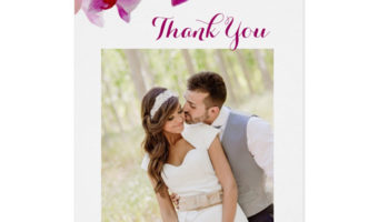 Watercolor Purple Orchid Wedding Stationery