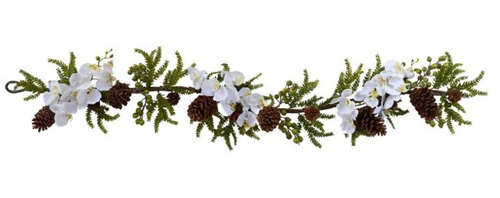 orchid-pine-garland