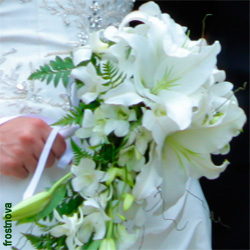 Orchid Wedding Bouquet with White Dendrobium Orchids