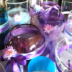 Vases with ribbon embellishments